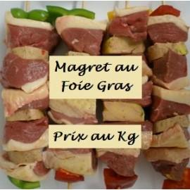 Brochette de Magret au Foie Gras