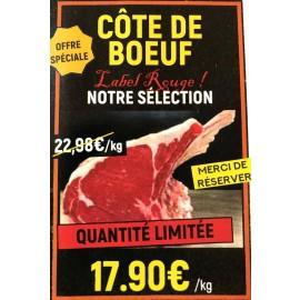 PROMO CÔTE de BOEUF Blonde d'Aquitaine Label Rouge  Qté Limitée MERCI de RESERVER!