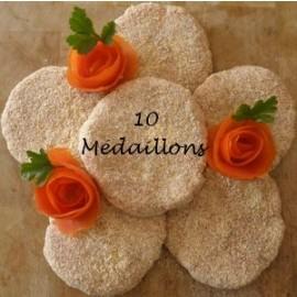 10 Médaillons de DINDE